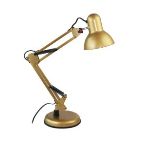 Luminária Metal Articulável de Mesa Dourada Alfacell - AL55028
