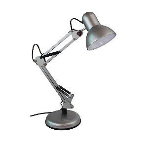 Luminária Metal Articulável de Mesa Prata Alfacell - AL55028