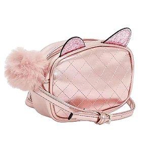 Bolsa Mini Infantil Transversal Metalizado Pink Pagani - LD1951