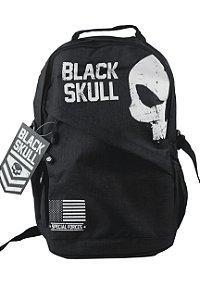 Mochila Masculina Reforçada Black Skull BS3213 Preto