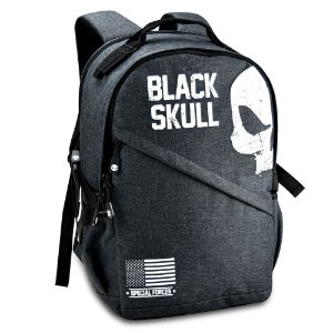 Mochila Masculina Reforçada Black Skull BS3213 Grafite