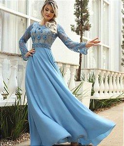 Vestido Fasciniu's Fascinius Moda Festa Feminina Bordado
