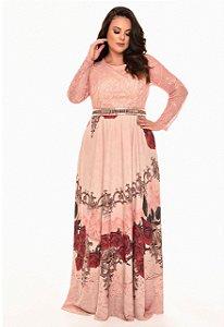 Vestido fasciniu's fascinius longo plus size moda evangelica