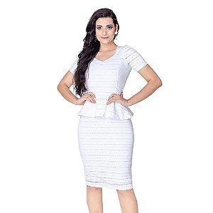 Conjunto Saia e Blusa Feminina Peplum Midi Moda Evangelica