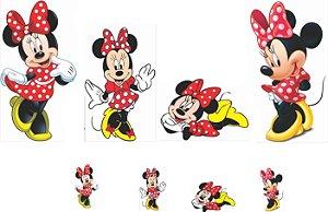 kit display Minnie Vermelha 8 peças
