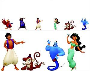 kit display cenário de chão Aladin 10 peças