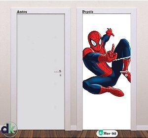 Adesivo decorativo de Porta Homem Aranha