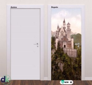 Adesivo decorativo de Porta Castelo New 10