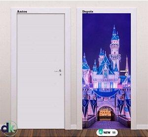Adesivo decorativo de Porta Castelo Azul New 11