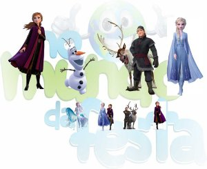 KIT DISPLAY PARA FESTA FROZEN 2 (06) 8 PEÇAS - EXCLUSIVO
