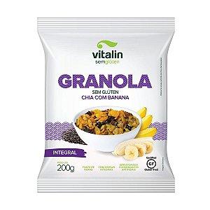 Granola de Chia com Banana