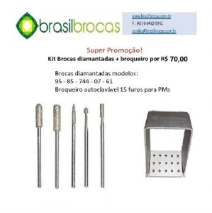 Kit de brocas diamantadas PM + broqueiro