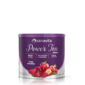 Power Tea Hibiscus Frutas Vermelhas 200g - Sanavita