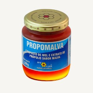 Propomalva Composto de Mel Extrato de Própolis sabor Malva 300g - Apis Flora