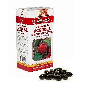 Acerola e Rosa Silvestre 80 Cápsulas de 500mg - Naturalis