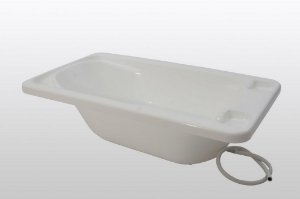 Banheira Plástica de Bebê Galzerano Rígida Branca