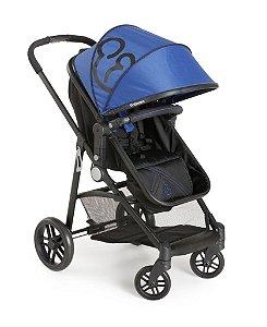Carrinho de Bebê Berço-Passeio Galzerano Gero Azul