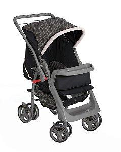 Carrinho de Bebê Berço-Passeio Galzerano Pegasus Preto com Bege