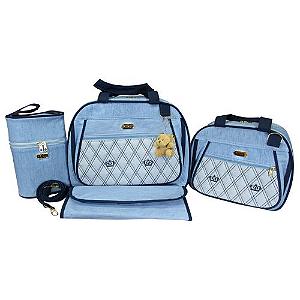 Kit Bolsa Maternidade Premium Azul