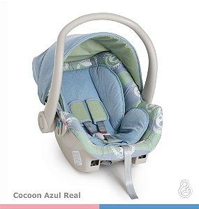 KIT Galzerano Bebê Conforto Cocoon Azul + Base Grafite ou Preta
