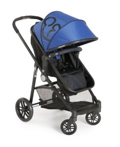KIT Galzerano Carrinho Gero Azul + Bebê Conforto Cocoon Várias Cores