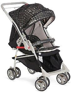 KIT Galzerano Carrinho Maranello II Preto + Bebê Conforto Cocoon Várias Cores