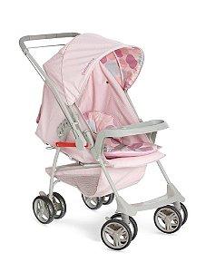 KIT Galzerano Carrinho Milano Rosa + Bebê Conforto Cocoon Várias Cores