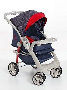 KIT Galzerano Carrinho Optimus Jeans com Vermelho + Bebê Conforto Cocoon Várias Cores