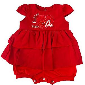 Macacão Vestido Fashion Vermelho