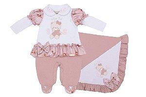 Saída Maternidade Ursinha Rosa e Branca