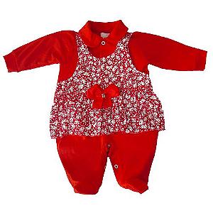 Saída Maternidade Vestido Vermelha com Pezinho