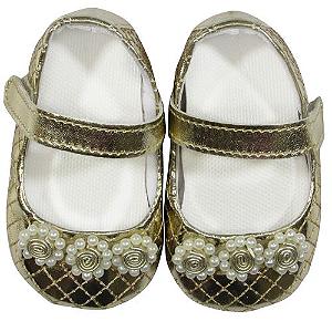Sapato Metalasse Verniz Ouro