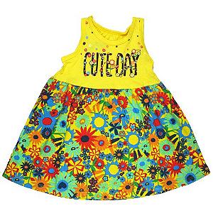 Vestido Cute Day Amarelo