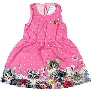 Vestido Poá de Gatinha Rosa