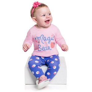 Conjunto Camiseta Manga Longa e Legging Magic Bear
