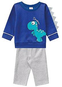 Conjunto Blusa e Calça Meu Pequeno Dinossauro