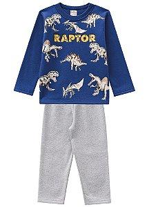 Conjunto Blusa e Calça Parque dos Dinossauros