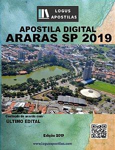 APOSTILA PREFEITURA DE ARARAS SP 2019 PROFESSOR DE PORTUGUÊS
