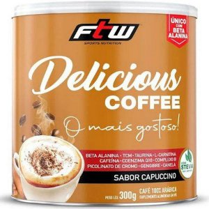 Delicious Coffee Café Termogênico C/ Beta Alanina 300g - Ftw