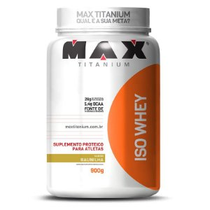 Iso whey 900g (Whey isolado) - Max Titanium