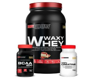 Kit Massa Black (Whey + Creatina + BCAA) Bodybuilders