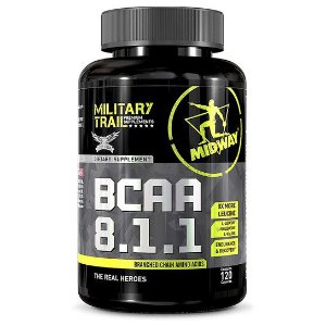 BCAA aminoácido 8:1:1 Military USA 120 Cápsulas - Midway