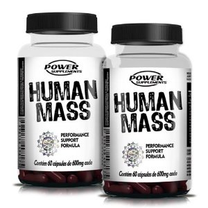 Kit c/ 2 Human Mass Pré Hormonal 600mg 60 Cápsulas cada - Power Supplements