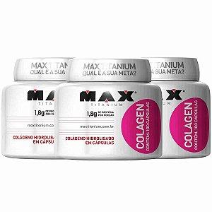 Kit 3x Colágeno 100 Cápsulas cada - Max Titanium