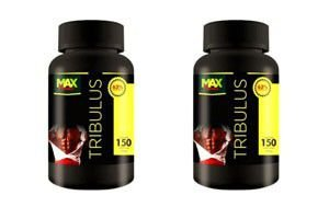 Kit 2x Tribulus 150 Cápsulas 1400mg 63% Saponinas - Max Power