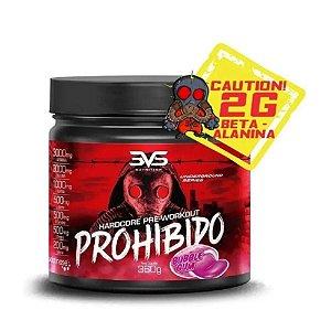 Pré-Treino Prohibido Hardcore 360g - 3VS Nutrition NOVA FÓRMULA