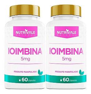 Combo 2x Ioimbina 5 mg nutrivale 60 cápsulas cada - Nutrivale
