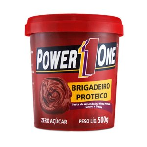 Pasta de Amendoim de Brigadeiro Proteico 500g - Power one