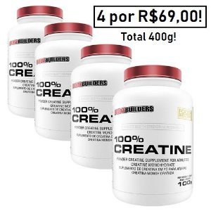Kit - 04 Creatinas Monohidratadas 100g cada - Bodybuilders