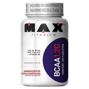 BCAA 1,2g 120 Tabletes - Max Titanium  (Val: 06-12-19)